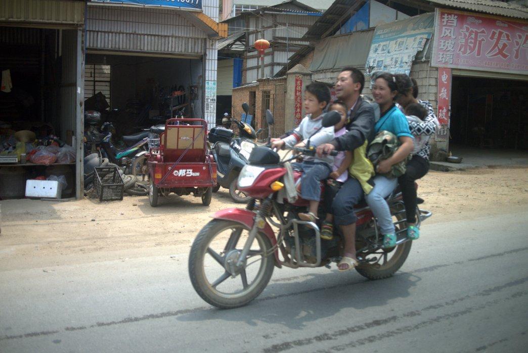 Riding through Xishuangbanna