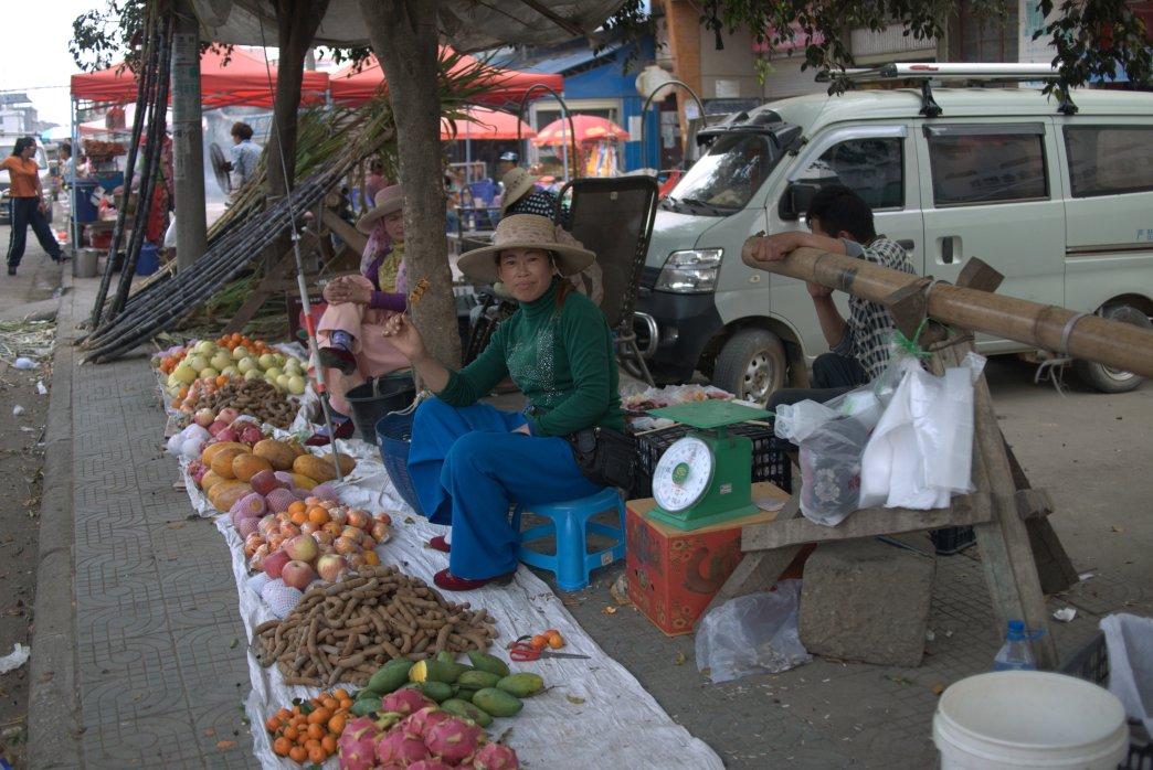 Yunnan woman selling Fruit