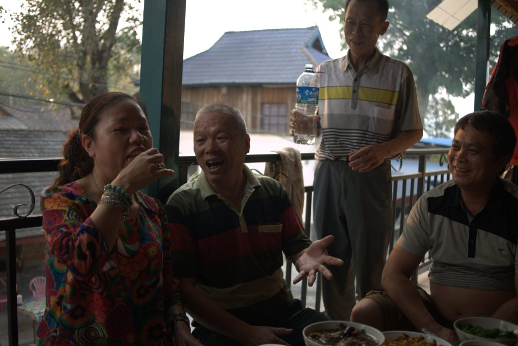 Our hosts having some moonshine - Copyright Celine Thiry 2015